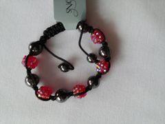 Hot Pink Hematite Bracelet