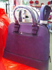 Purple Zip Around Dome Satche Purse