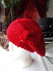 Red Knitted Newsboy