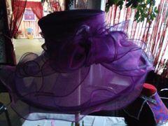 Puple Organza Hat