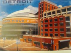Detroit Ford Field Postcard 1453