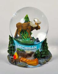 Michigan Moose Water Globe #Mmoose