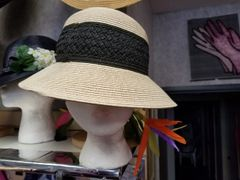 Natural Straw with Black Band 418207