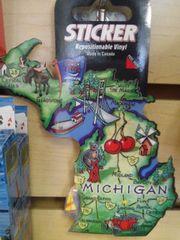 Michigan Map Sticker MMS