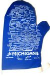 Royal Blue and White Michigan Mitten 5701