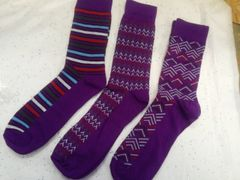 3 Pr Pack of Purple Socks #3pr