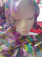 Lavender,Green, and Yellow Scarf #3001