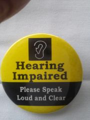 Hearing Impaired Button 1943