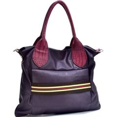 Purple Fashioned Stripe Purse #3110