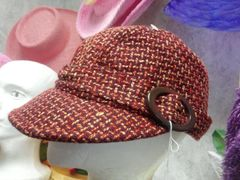 Red Tweed Cap 5870