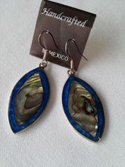 Blue Abalone Earrings
