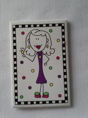 Girl in Purple Magnet