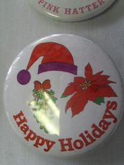 Happy Holidays 1 Button #2156