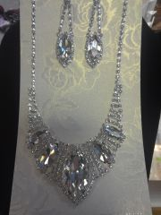 2 PC Rhinestone Necklace Set #2781