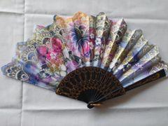 Purple Floral Fan 1