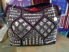 Purple Rhinestone Purse #2779