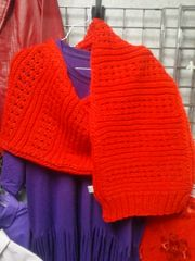 Red Knitted Scarf 5806