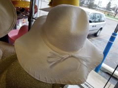 White Floppy Hat 418222