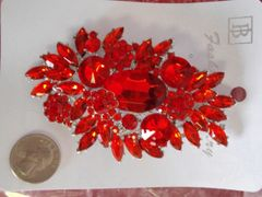 Red Brooch Pin #2899