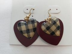 Brown and Black Earrings