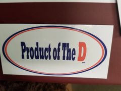 Product of the D Window Decal 418250