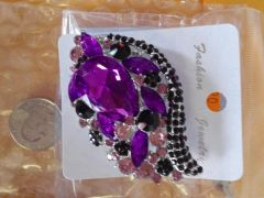 Purple Brooch Pin #2910