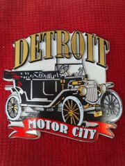 Detroit Car Magnet #3634