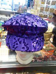 Purple Newsboy with Sequin 5999
