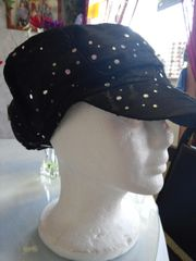 Black Newsboy Hat