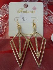 Gold Diamond Earrings with Stones
