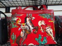 Red Embellished Western Purse #2751