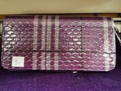 Purple Plaid Wallet
