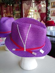Sm Purple Fedora Hat 2