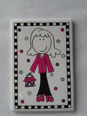 Girl in Pink Magnet
