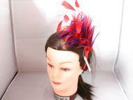 Red w Purple Feather Headband #3105