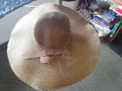 Brown Wide Brim Hat #3069