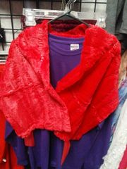 Red Shawl with Sequin #3576