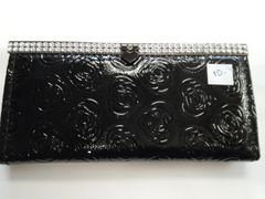 Black Wallet with Stones