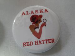 Alaska Red Hatter Button-B