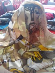Beige Picasso Scarf #2986