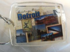 Detroit Collage 2 Keychain #DCK2
