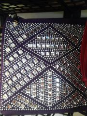 Purple Rhinestone Purse #3235