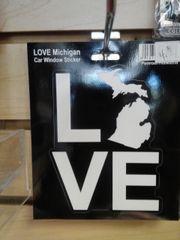 Michigan Love Sticker MLS