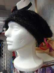 Black Fuzzy Hat #3519