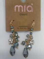 Green Rhinestone Earrings 5860