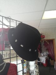 Black with Rhinestone Fedora