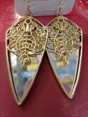 Gold Mirrored Earrings
