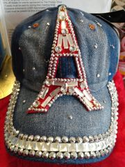 Eiffel Tower Denim Cap #2882