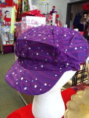 Purple Sparkle Newsboy Hat #2634