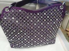 Purple Rhinestone Purse #3240